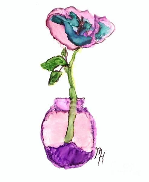 Wall Art - Painting - Purple Flower In A Vase by Marsha Heiken