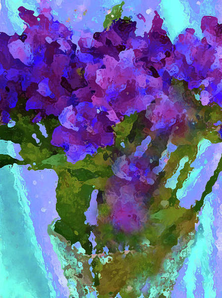 Photograph - Purple Flowers Of The C Collection by Corinne Carroll