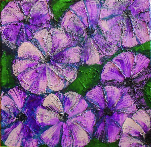 Snapdragons Painting - Purple Flowers by Stephen Humphries