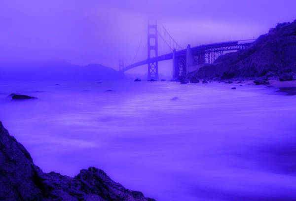 Purple Golden Gate Fog Art Print
