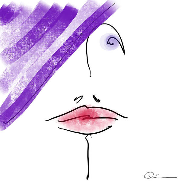 Purple Hat Art Print