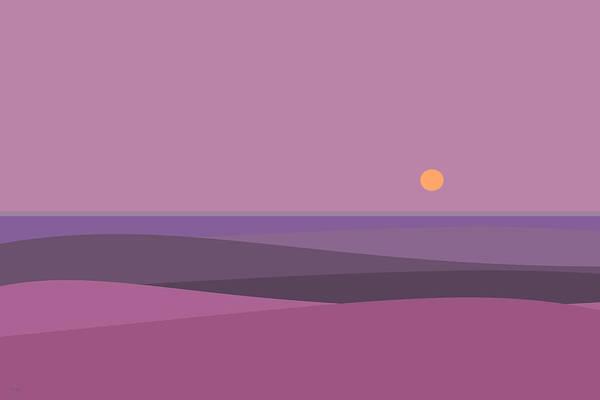 Digital Art - Purple Haze - Orange Sun by Val Arie