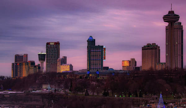 Photograph - Purple Haze Skyline by Lora J Wilson