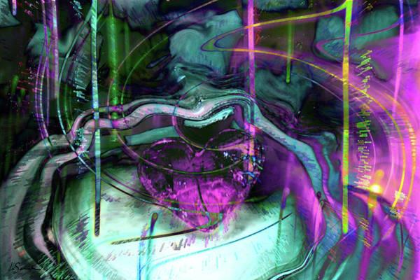 Wall Art - Digital Art - Purple Heart by Linda Sannuti