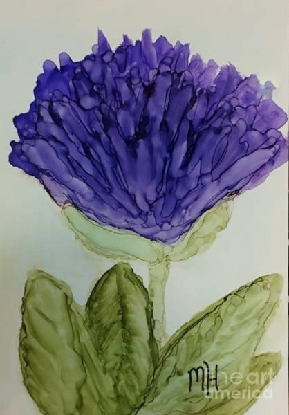 Wall Art - Painting - Purple Ink Mum Painting by Marsha Heiken