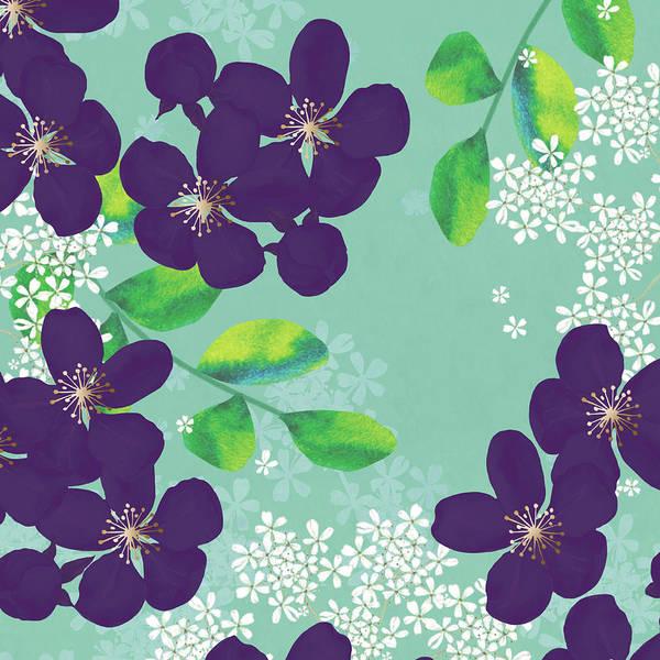 Blue Rose Digital Art - Purple Joy by P.s. Art