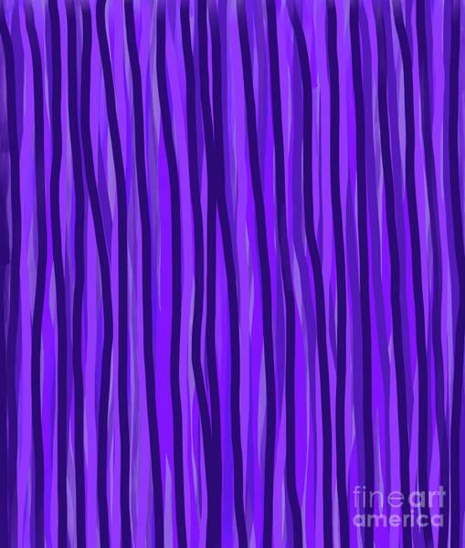 Digital Art - Purple Lines by Annette M Stevenson