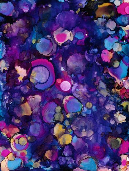 Painting - Purple Marbles by Jan Pellizzer