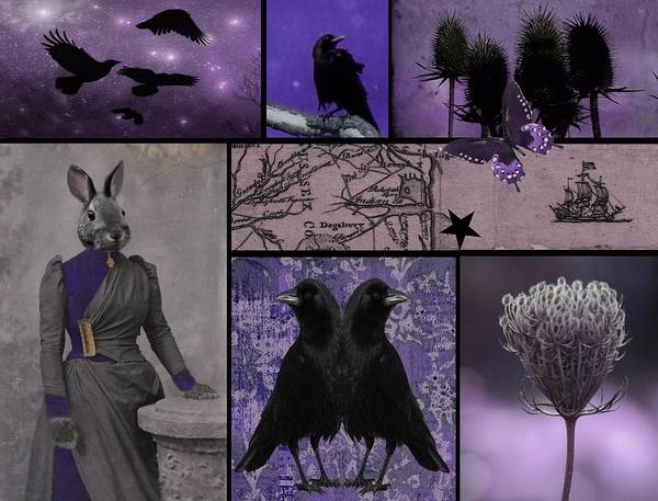 Wall Art - Photograph - Purple Menagerie  by Gothicrow Images