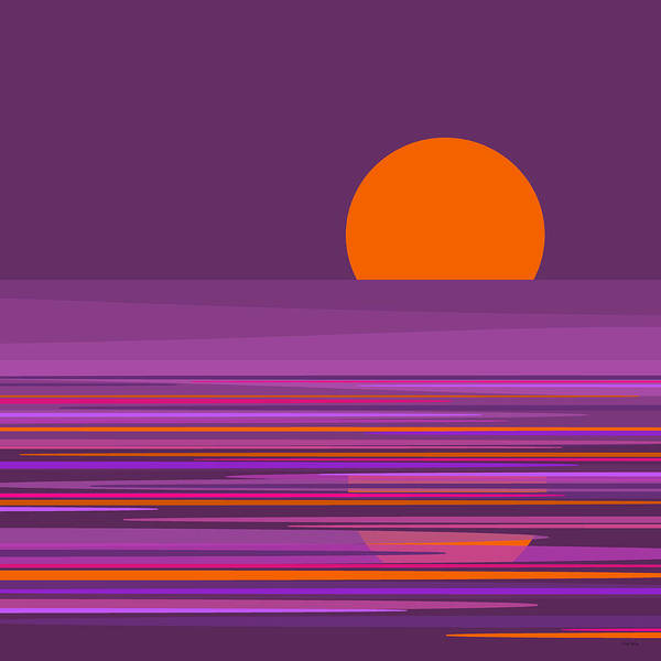 Wall Art - Digital Art - Purple Moonlight by Val Arie