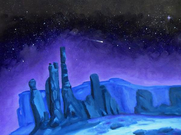 Star Formation Painting - Purple Night by Rachel Beck