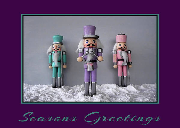 Photograph - Purple Nutcrackers by Kathy K McClellan
