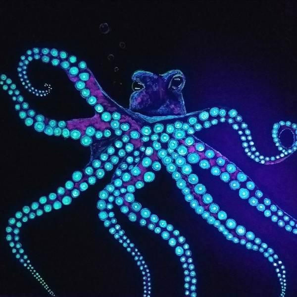 Painting - Purple Octopus  by Jennah Lenae