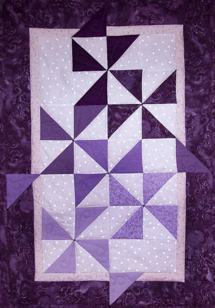 Purple Pinwheels Pirouetting Art Print