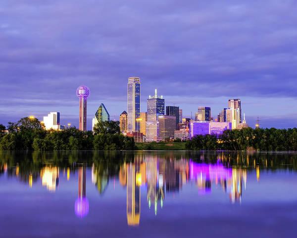 Photograph - Purple Rain City Of Dallas Texas by Robert Bellomy