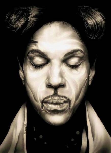 Prince Rogers Nelson Wall Art - Drawing - Purple Reign by Fred Larucci