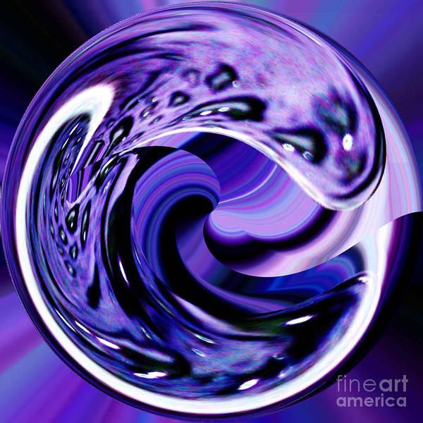 Wall Art - Digital Art - Purple Reign by Merice Ewart