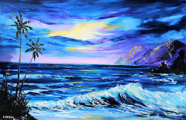 Painting - Purple Seascape by Kevin Brown