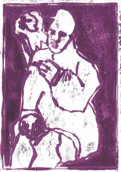 Painting - Purple Smoker by Artist Dot