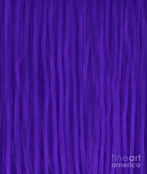 Digital Art - Purple Stripes by Annette M Stevenson