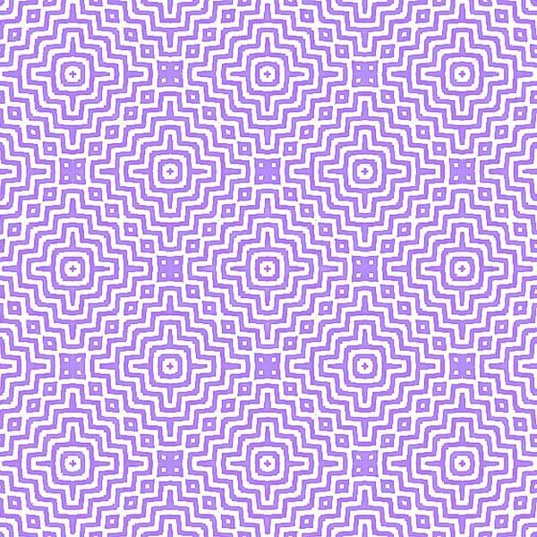 Digital Art - Purple Tile Maze Pattern by Sheila Wenzel