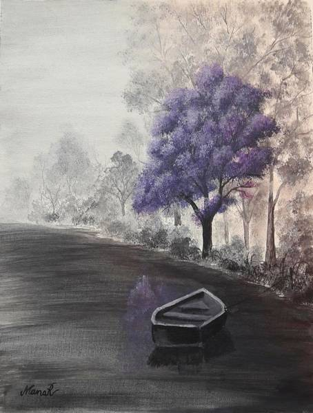 Painting - Purple Tree by Manar Hawsawi