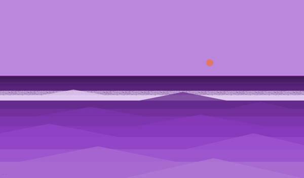 Digital Art - Purple Waves by Val Arie