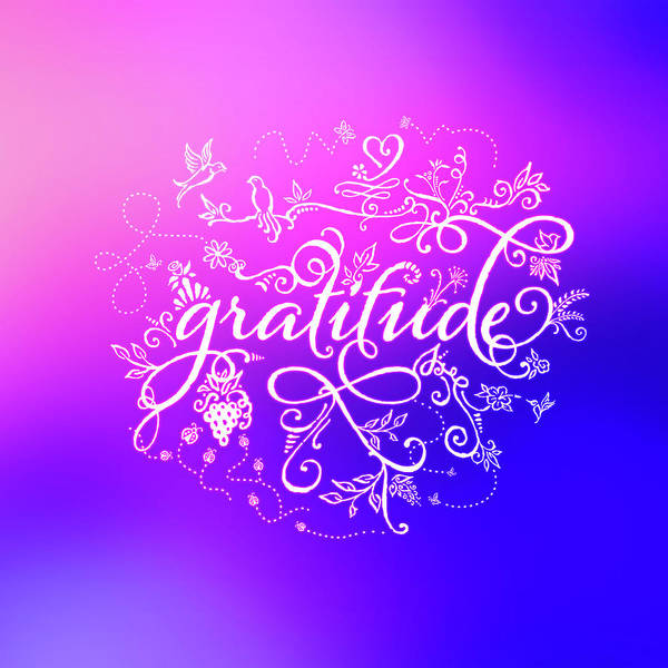 Digital Art - Purply Pink Gratitude by Barry Costa