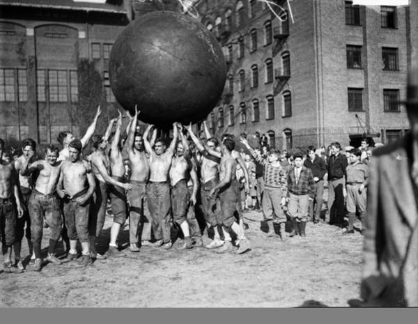 Photograph - Pushball by Chicago History Museum