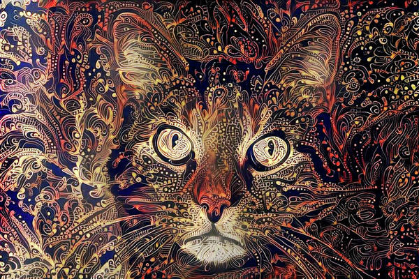 Digital Art - Mystic In Paisley by Peggy Collins