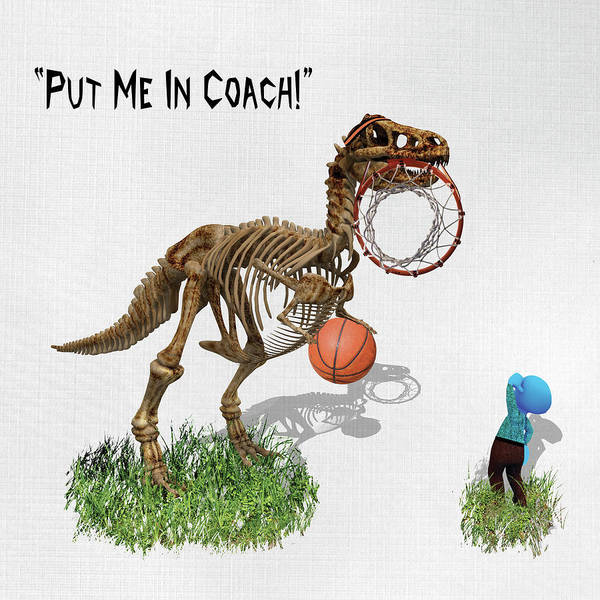 Wall Art - Mixed Media - Put Me In Coach by Paula Ayers