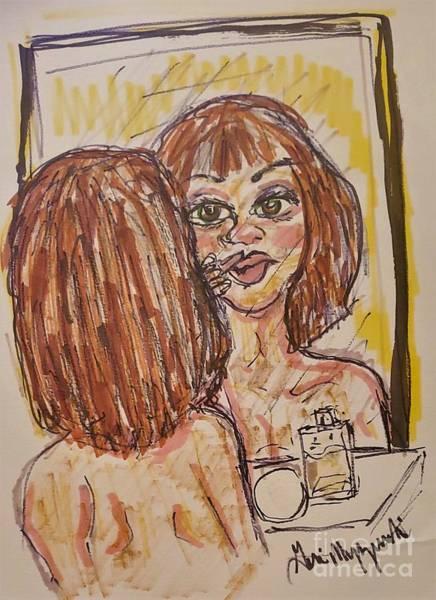 Wall Art - Mixed Media - Put On Your Make-up by Geraldine Myszenski