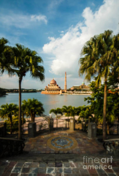 East Asia Wall Art - Photograph - Putrajaya Mosque With Miniature Or Tilt by Jasni