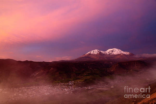 Photograph - Putre And Nevados De Putre At Sunset Chile by James Brunker