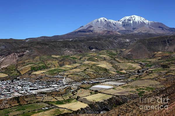 Photograph - Putre And Nevados De Putre Chile by James Brunker