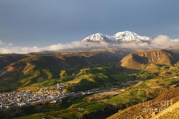 Photograph - Putre And Nevados De Putre Volcano Chile by James Brunker