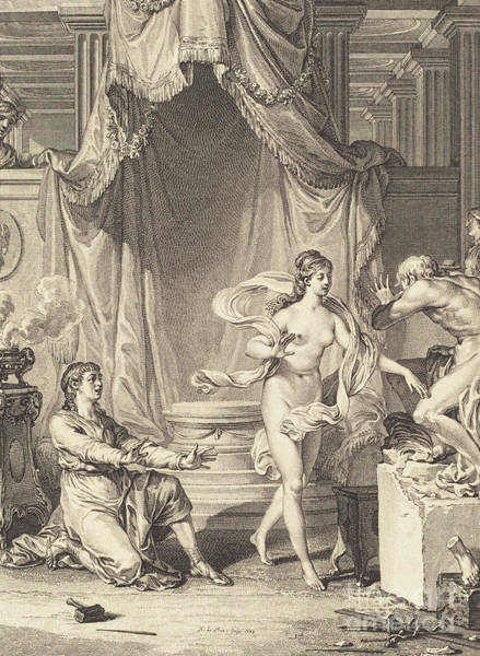 Wall Art - Drawing - Pygmalion, 1778  by Noel Le Mire