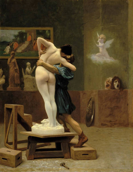 Wall Art - Painting - Pygmalion And Galatea - Digital Remastered Edition by Jean-Leon Gerome