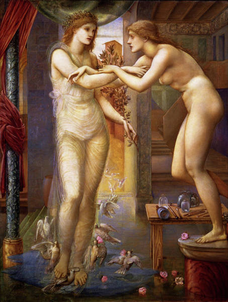 Wall Art - Painting - Pygmalion And The Image, The Godhead Fires - Digital Remastered Edition by Edward Burne-Jones