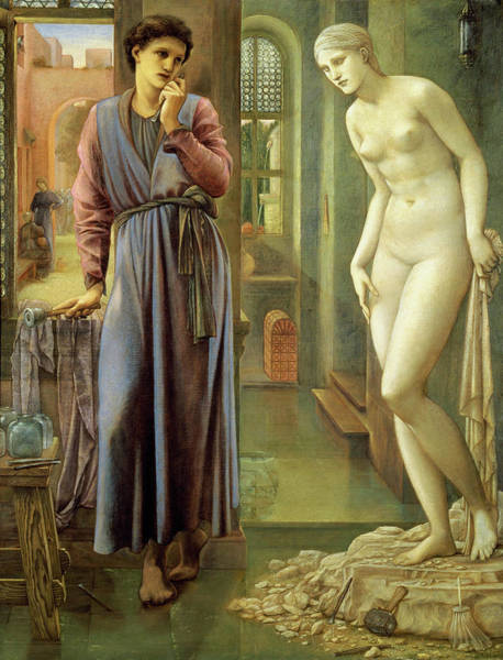 Wall Art - Painting - Pygmalion And The Image, The Hand Refrains - Digital Remastered Edition by Edward Burne-Jones