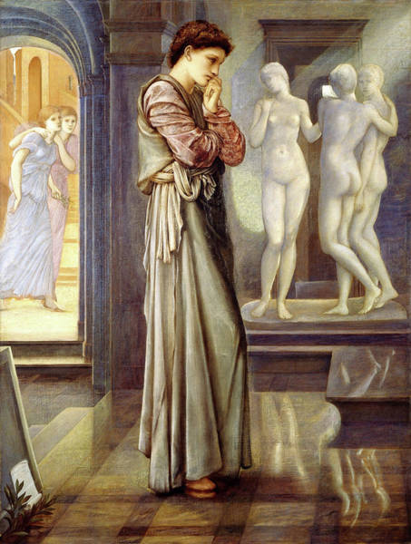 Wall Art - Painting - Pygmalion And The Image, The Heart Desires - Digital Remastered Edition by Edward Burne-Jones