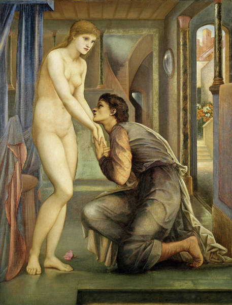 Wall Art - Painting - Pygmalion And The Image, The Soul Attains - Digital Remastered Edition by Edward Burne-Jones
