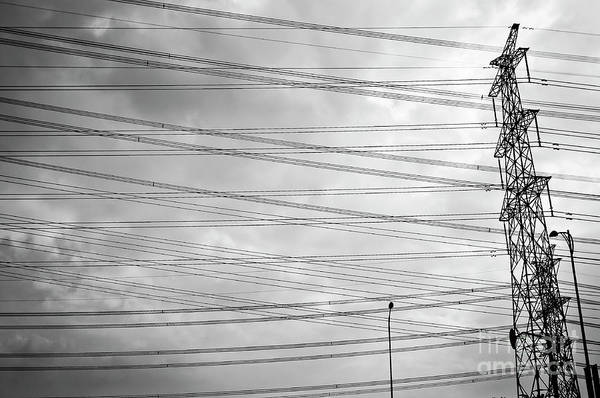 Wall Art - Photograph - Pylon And Wires by Delphimages Photo Creations