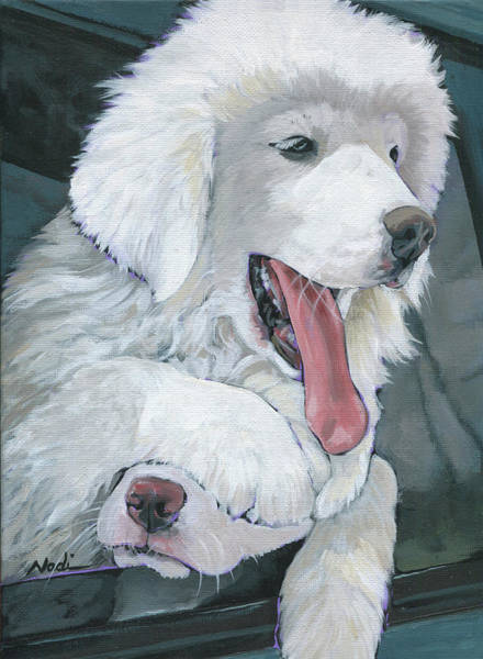 Pyrenees Painting - Pyr Puppies by Nadi Spencer