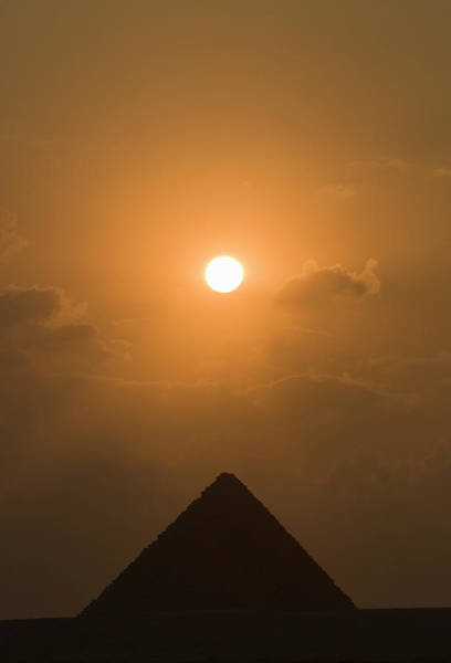 Ancient Egypt Photograph - Pyramid At Sunset by Shanna Baker