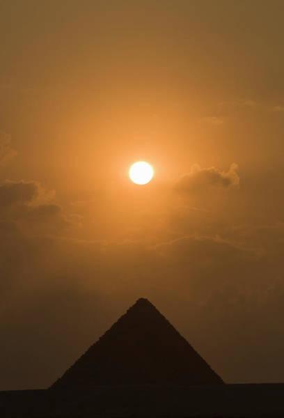 Giza Photograph - Pyramid At Sunset by Shanna Baker