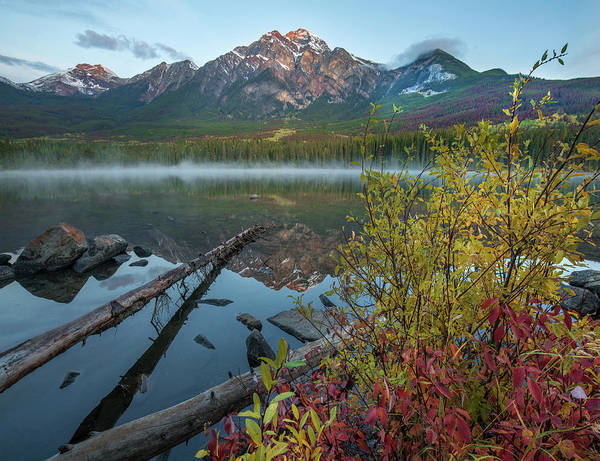 Photograph - Pyramid Mountain From Pyramid Lake by Tim Fitzharris