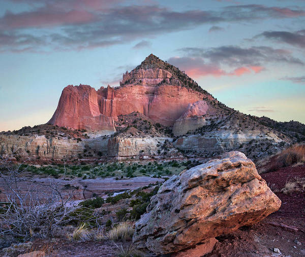 Wall Art - Photograph - Pyramid Mountain Sunrise, Red Rock by