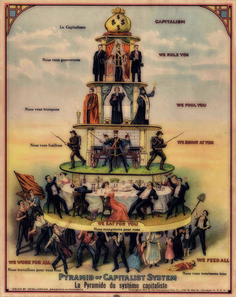 Capitalism Wall Art - Painting - Pyramid Of A Capitalist System by Mountain Dreams