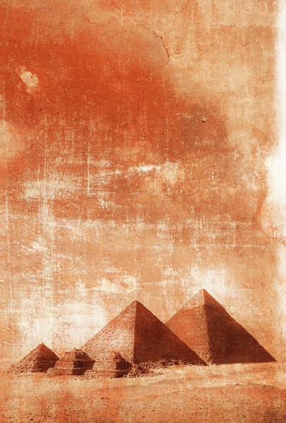 Giza Photograph - Pyramids At Sunrise by Grant Faint